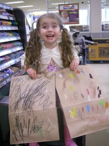 Earth day bags at the grocery store