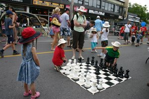 Chess in the Streets - Reid wanted to play but it didnt seem the right time to make my brain remember how to play chess